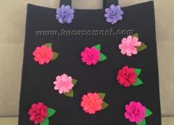 Keçe Çiçek Çanta
