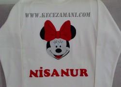 Keçe Minnie Mouse Tişört