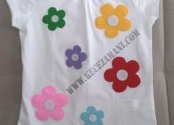 Keçe Kişiye Özel Tişört (Çiçek)