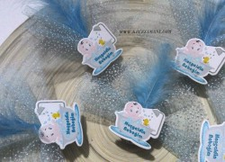 Mavi Sticker Bebek Şekeri