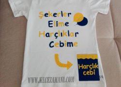 Keçe İşlemeli Fenerbahçeli Bayram Tişörtü