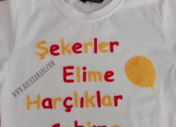 Keçe İşlemeli Bayram Tişörtü(Mustafa)