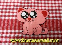 Keçe Süslemeli Mendil(Kedi)