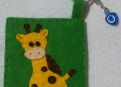 Keçe Zürafa Anahtarlık