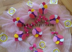 Keçe Balon Doğum Günü Magneti (Bebek Şekeri)