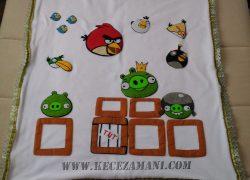 Keçe İşlemeli Angry Birds Polar Battaniye