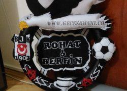 Keçe Beşiktaş Kapı Süsü(Rohat&Berfin)