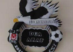 Keçe Beşiktaş Kabartmalı Kapı Süsü(Dua&Araf)