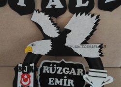 Keçe Beşiktaş Taraftar Kapı Süsü (Rüzgar Emir)