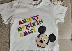Keçe İşlemeli Mickey Mouse Tişört