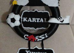 Keçe Beşiktaş Taraftar Kapı Süsü(Kartal)