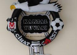 Keçe Kabartmalı Beşiktaş Kapı Süsü(Cihat)