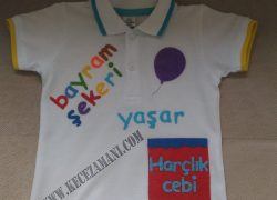 Keçe İşlemeli Bayram Tişörtü(Yaşar)
