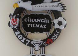 Keçe Kabartmalı Beşiktaş Taraftar Kapı Süsü(Cihangir)