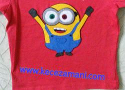 Keçe İşlemeli Minyon Tişörtü