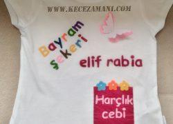 Keçe Rengarenk Bayram Tişörtü (Elif Rabia)