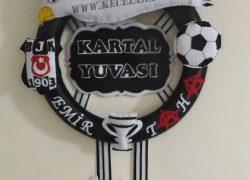 Keçe Taraftar Üç Yıldız Beşiktaş Kapı Süsü(Emir Taha)