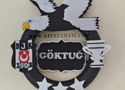 Keçe 3 Yıldız Beşiktaş Kapı Süsü (Göktuğ)