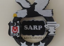 Keçe Beşiktaş 3 Yıldız Kapı Süsü (Sarp)