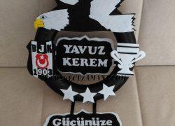 Keçe Beşiktaş 3 Yıldız Kapı Süsü (Yavuz Kerem)