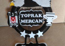Keçe Beşiktaş Kapı Süsü(Toprak Mercan)
