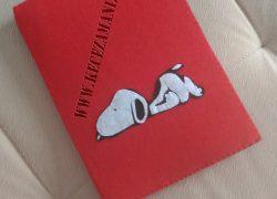 Snoopy Keçe Kitap Kılıfı