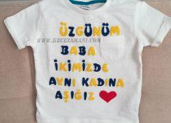 Keçe İşlemeli Fenerbahçe Kişiye Özel Tişört