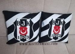 Keçe İşlemeli Beşiktaş Taraftar Yastık