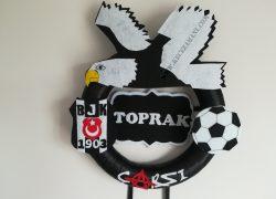 Keçe Beşiktaş Kapı Süsü(Toprak)