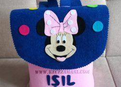Keçe Minnie Mouse Sırt Çantası