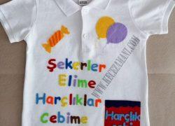 Keçe Renkli İsimli Bayram Tişörtü