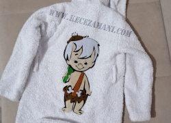 Keçe İşlemeli Bambam Çocuk Bornoz