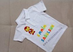 Keçe İşlemeli İronMan Tişört