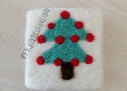 Keçe İğneleme Doğal Sabun Yılbaşı Ağacı