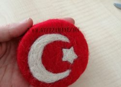 Keçe İğneleme Doğal Sabun Türk Bayrağı
