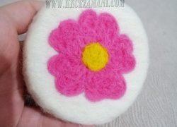 Keçe İğneleme Sabun Çiçek