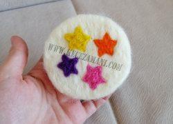 Keçe İğneleme Doğal Sabun Renki Yıldızlar