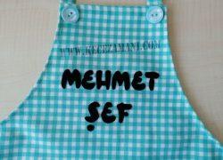 Keçe İşlemeli Masterchef Çocuk Mutfak Önlüğü (Mehmet)