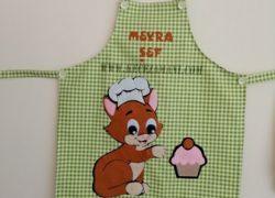 Keçe İşlemeli Masterchef Çocuk Mutfak Önlüğü (Meyra)