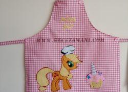 Keçe İşlemeli Applejack Pony Mutfak Önlüğü
