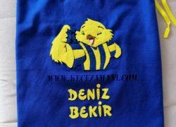 Keçe İşlemeli Fenerbahçe Sarı Kanarya Yedek Kıyafet Torbası