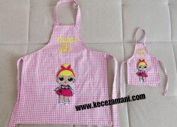 Keçe Lol Bebek çocuk ve oyuncak bebek mutfak önlük