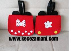 Keçe Mickey – minnie mouse çanta