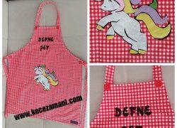 Keçe İşlemeli Unicorn Mutfak Önlüğü