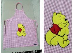 Keçe İşlemeli Pooh Mutfak Önlüğü