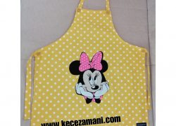 Keçe İşlemeli Minie Mouse Mutfak Önlüğü