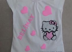 Keçe Hello Kitty Tişört(Pembe)