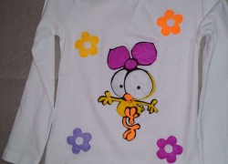 Keçe Limon ve Çiçekli Tişört