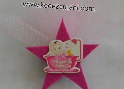 Keçe Yıldızlı Sticker Bebek Şekeri