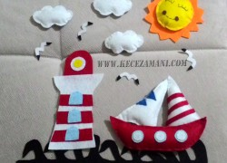 Keçe Güneş,Martı,fener,Yelkenli ve Bulut